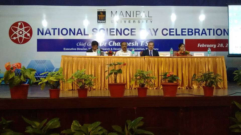 Dr. T.S.Channesh during National Science Day Celebrations at Manipal University