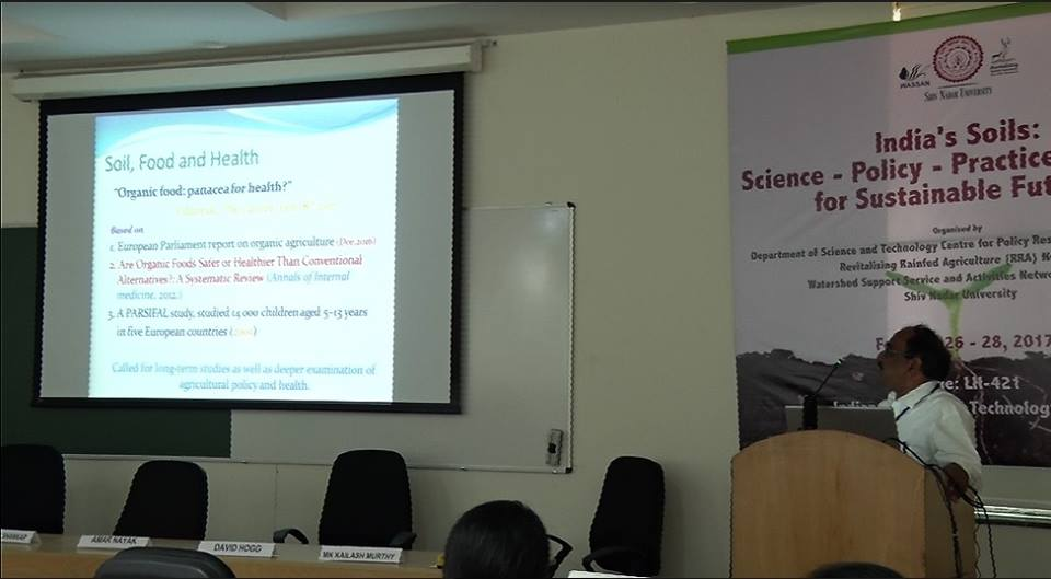 Dr. T.S.Channesh at India's Soils conference held at IIT, Delhi